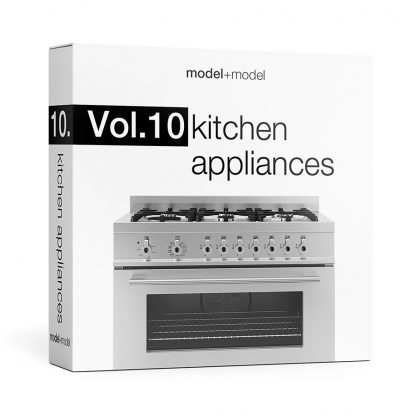Vol.10 Kitchen appliances is a great collection of high-quality 3d models for your interior scenes. The volume contains 89 3d models of kitchen appliances arranged in 24 sets. All models are made with attention to details. They have reasonable amount of polygons and accurate wireframe. The models are textured and are ready to use. To view all models and get additional information, please download a PDF catalogue below. You can also download a free sample file from the volume.